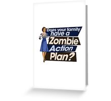 Zombie Action Plan Greeting Card