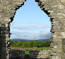 Kilmacduagh church arch view by John Quinn