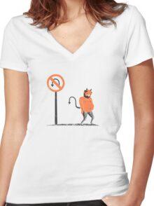 Bummer Women's Fitted V-Neck T-Shirt