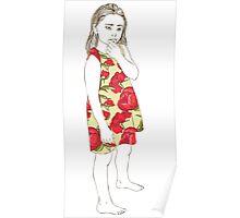 Little girl in a dress Poster