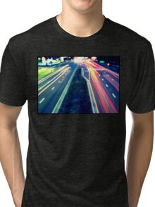 Long Exposure Street Scene. Tri-blend T-Shirt