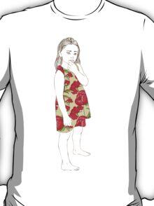 Little girl in a dress T-Shirt