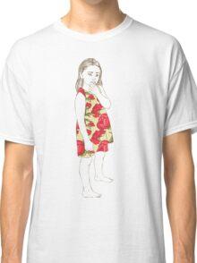 Little girl in a dress Classic T-Shirt