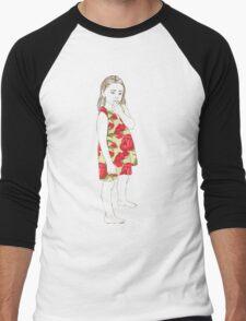 Little girl in a dress Men's Baseball ¾ T-Shirt