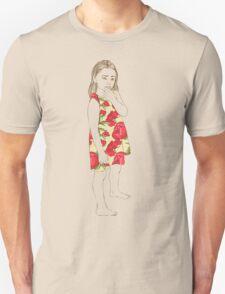 Little girl in a dress Unisex T-Shirt