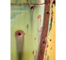 Rust and Bullets Photographic Print