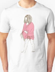 Little girl in a pink dress T-Shirt