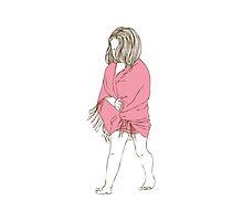 Little girl in a pink dress by OlgaBerlet