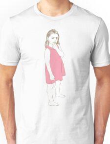 Little girl in a pink dress Unisex T-Shirt