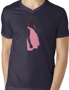 Little girl in a pink dress Mens V-Neck T-Shirt
