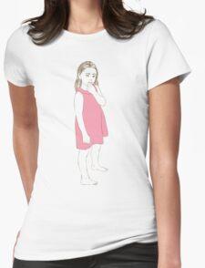 Little girl in a pink dress T-Shirt
