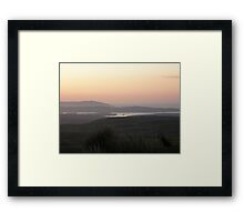 soft evening light - Towards Downings Donegal Framed Print