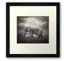 May the Stars Carry Your Sadness Away (Elephant Dreams) Framed Print