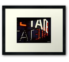 LATE TATE liverpool Framed Print