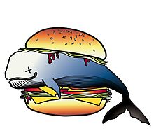 Whale Burger Photographic Print