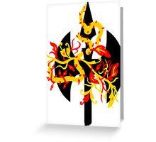 tribal axe Greeting Card