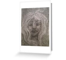 White haired Greeting Card