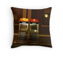 Two Phone Booths Throw Pillow