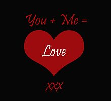 You Plus Me is Love by CreativeEm