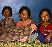 3 Girls in Nepal by Paul Golz