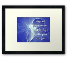 May Angels Surround You Framed Print