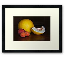 Fruit on the table Framed Print