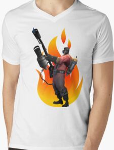 Pyro, Let the burns begin!! Mens V-Neck T-Shirt
