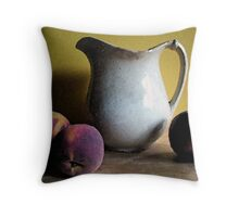 Old Pitcher with Peaches Throw Pillow