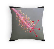 Hibiscus Pollen Stem Throw Pillow