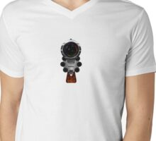 Gun Concept Camera Mens V-Neck T-Shirt