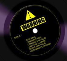 Listening Pleasure (Black) Sticker