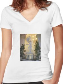 Sensual Sculptures  Women's Fitted V-Neck T-Shirt