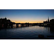Stockholm sunset Photographic Print