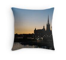 Stockholm sunset Throw Pillow