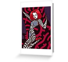 Red hot dance  Greeting Card