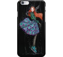 Charming ice skater with red hair iPhone Case/Skin