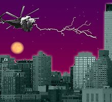 Lioncopter in the City by nrrd-grrl