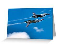 USAF F-16C Thuderbirds Greeting Card