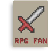 RPG FAN Sword Canvas Print