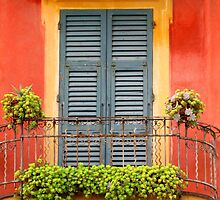 Balcony - Santa Margherita by Marilyn Harris