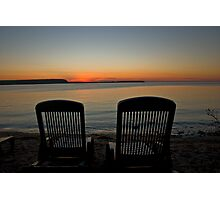 Come Sit With Me And Watch The Sunset Photographic Print