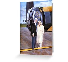 Fred the Rear gunner and Wife(WRAAF) Greeting Card