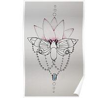 bejewled moth Poster
