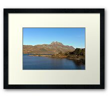 Slioch and Loch Maree Wester Ross Scotland Framed Print