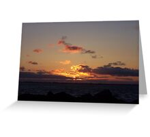 SUNSET AT WESTPORT WASHINGTON Greeting Card
