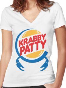 Krabby Patty Women's Fitted V-Neck T-Shirt