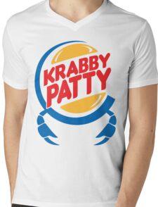 Krabby Patty Mens V-Neck T-Shirt