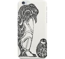 emperor penguin sketch iPhone Case/Skin