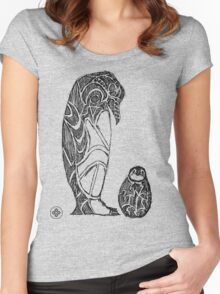 emperor penguin sketch Women's Fitted Scoop T-Shirt