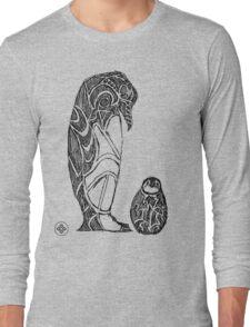 emperor penguin sketch Long Sleeve T-Shirt